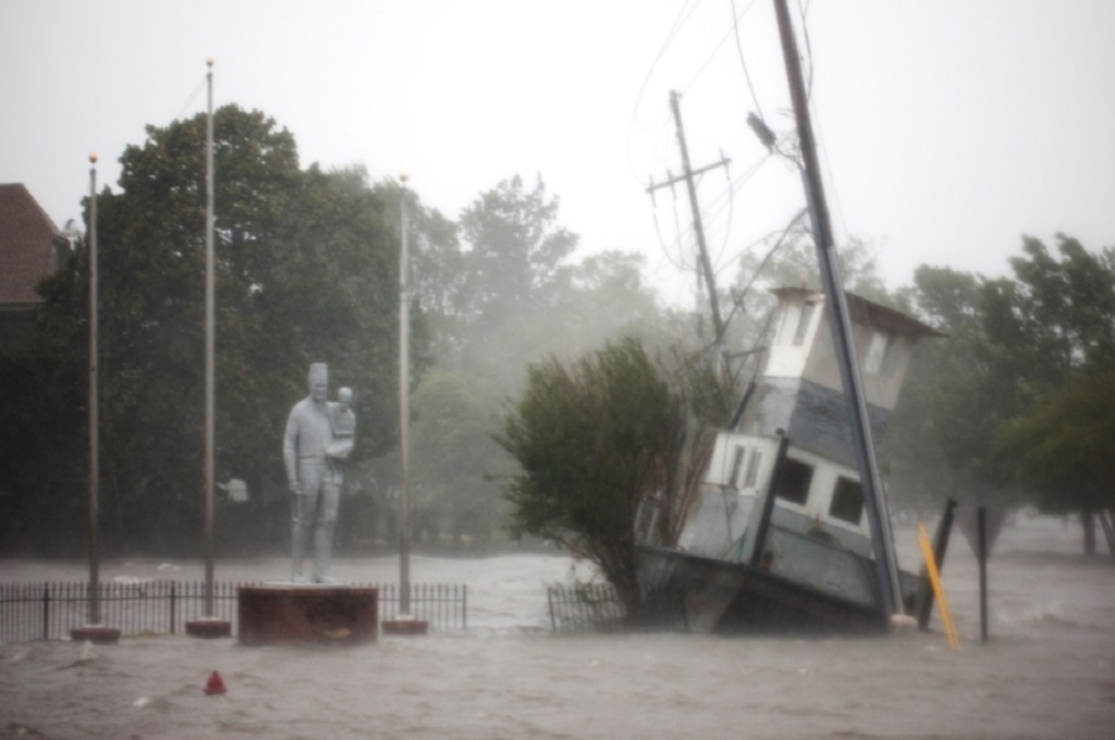 Banjir akibat Florence melanda New Bern, North Carolina, AS, 14 September 2018. (Foto: Logan Cyrus/AFP)