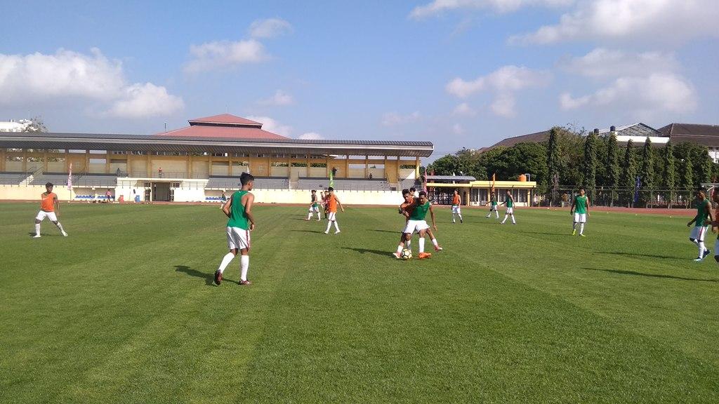 Para pemain Timnas U-19 jalani pemusatan latihan terakhir di Yogyakarta (Foto: Ahmad Mustaqim/ Medcom.id)
