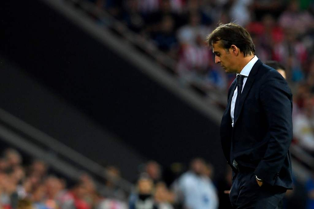 Pelatih Real Madrid Julen Lopetegui (LLUIS GENE / AFP)