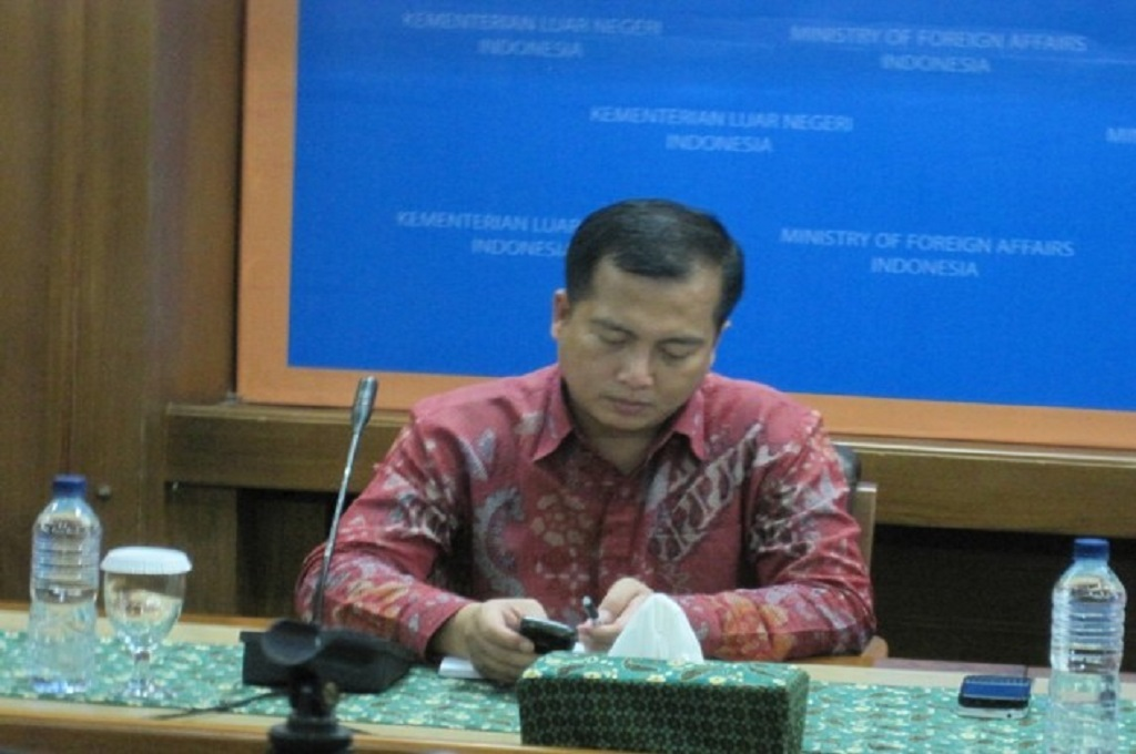 Direktur Perlindungan WNI dan BWI Kemenlu RI Lalu Muhamad Iqbal. (Foto: Medcom.id)