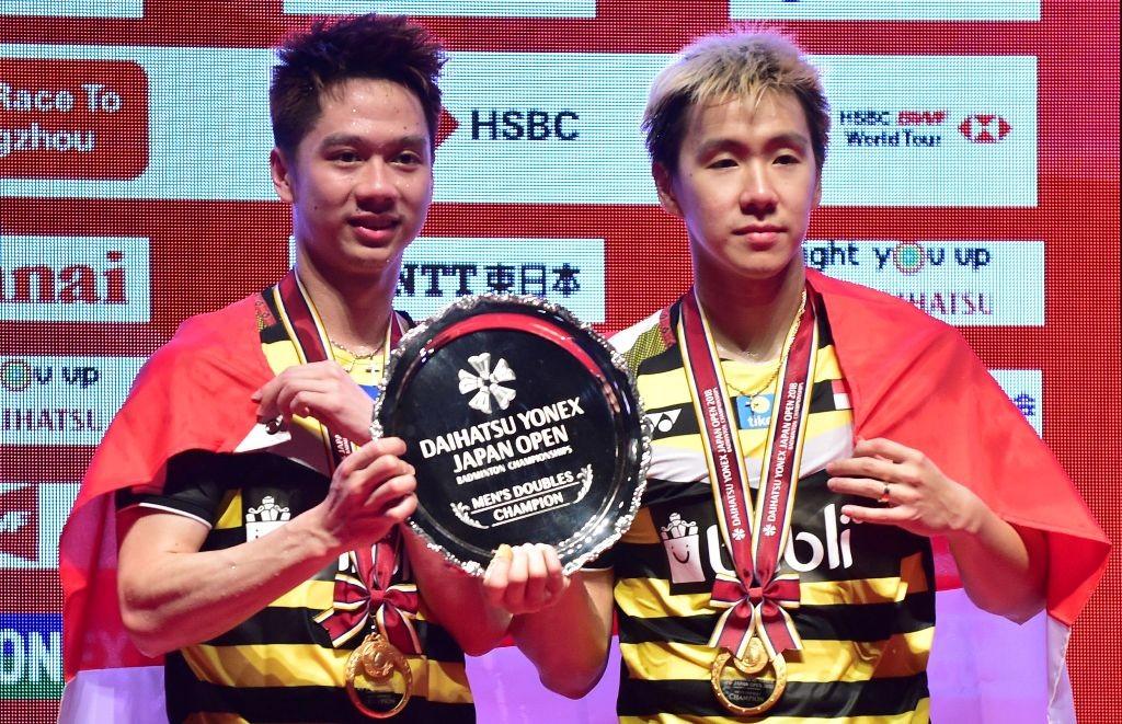 Marcus Fernaldi Gideon/Kevin Sanjaya Sukamuljo. (Kazuhiro NOGI / AFP))