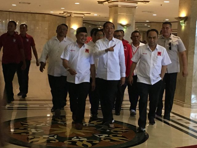 Presiden Jokowi menghadiri penutupan Rakernas Projo/Medcom.id/Dian Ihsan