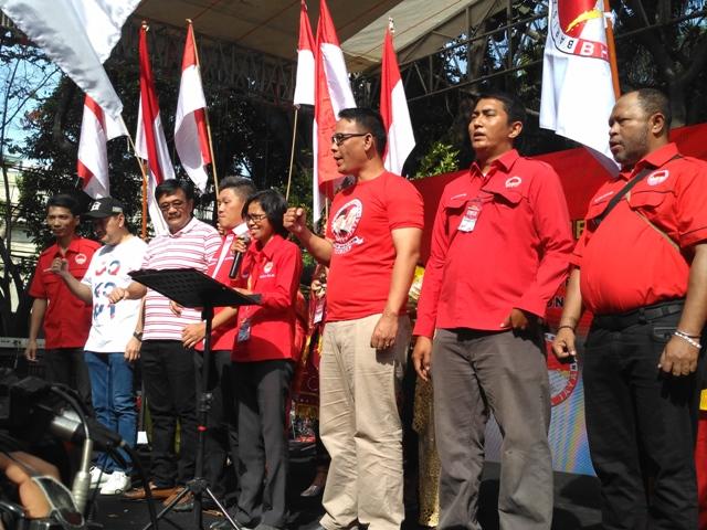 Relawan Bara Baja mendeklarasikan dukungan untuk Jokowi-Ma'ruf/Medcom.id/Nur Azizah