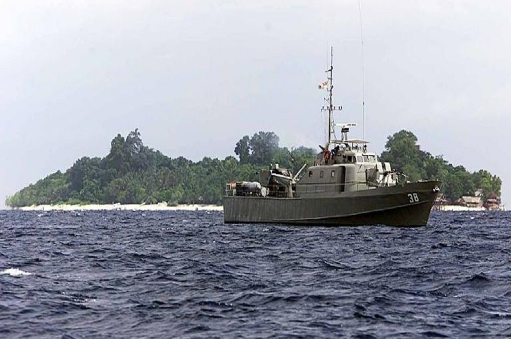 Kapal patroli Malaysia di perairan Sabah. (Foto: AFP)