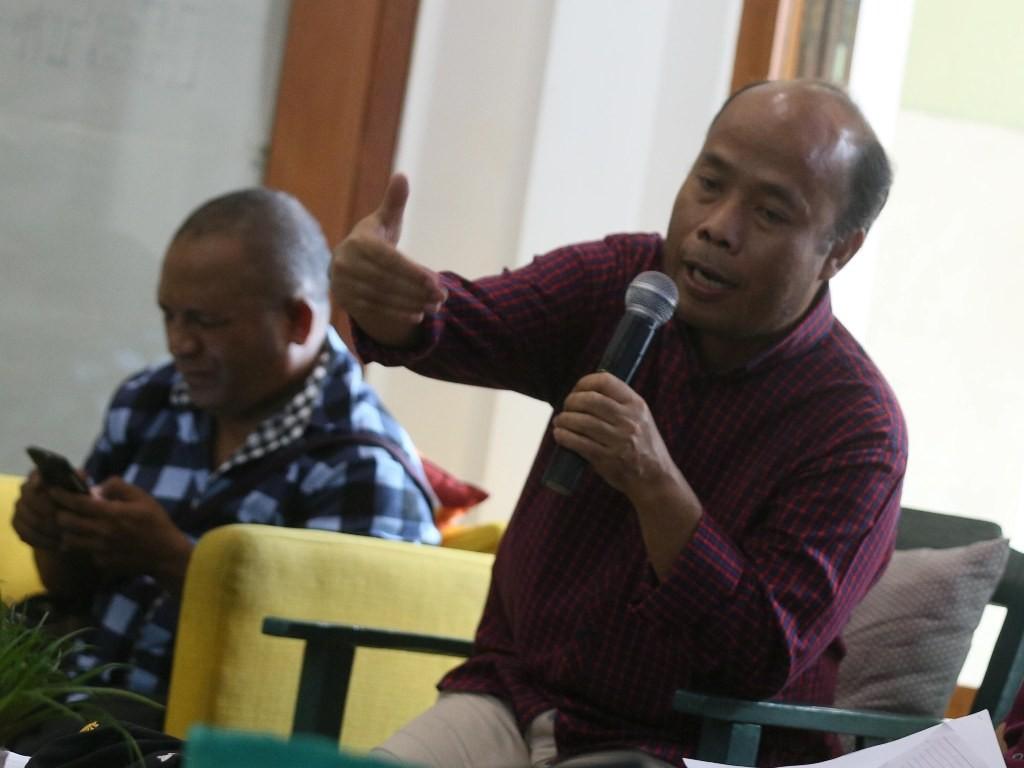 Direktur Eksekutif Migrant Care Wahyu Susilo (kanan). Foto: MI/Ramdani.