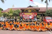 Ratusan Pelaku Kejahatan Dibekuk di Malang