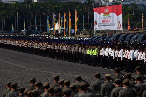 Kapolri-Panglima TNI Pimpin Apel Pengamanan Pemilu 2019