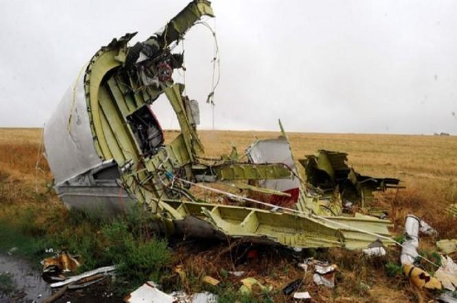 Puing pesawat MH17 tergeletak di Ukraina timur. (Foto: AFP)