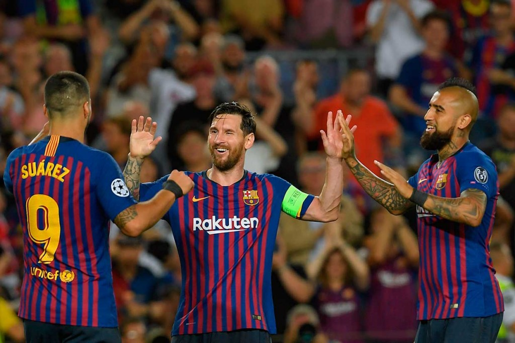 Messi Hattrick, Barca Lumat PSV 4-0