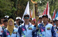 Api Obor Asian Para Games Sambangi Garis Khatulistiwa