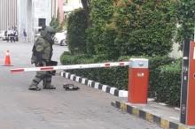 Tim Gegana Cek Tas Hitam di Sekitar UIN Syarif Hidayatullah