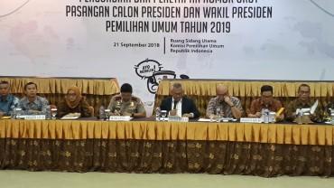 Jokowi-Ma'ruf dan Prabowo-Sandi Resmi Capres-Cawapres
