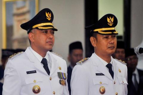 Wahidin Halim Lantik Bupati-Wakil Bupati Tangerang
