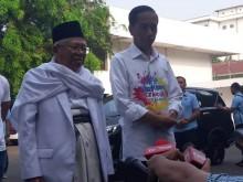 Ambil Nomor Urut, Jokowi-Ma'ruf Jalan Kaki dari Tugu Proklamasi