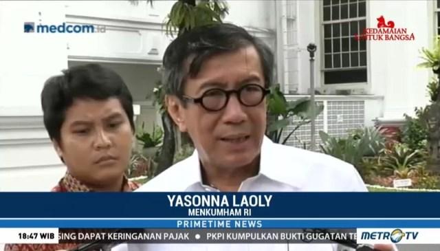 Menteri Hukum dan HAM Yasonna Laoly.