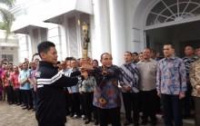 Tarian Khas Melayu Sambut Kedatangan Obor Asian Para Games 2018 di Medan
