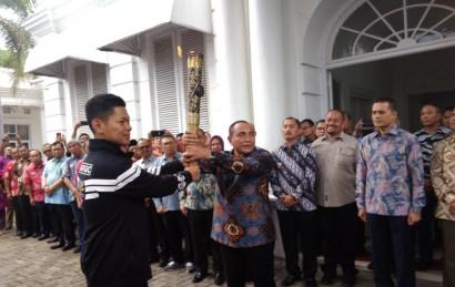 Tarian Khas Melayu Sambut Kedatangan Obor Asian Para Games 2018