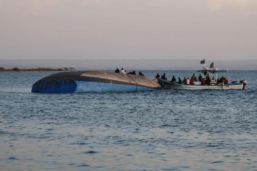 Kapal feri tenggelam di Tanzania. (Foto: AFP).