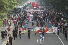 KPU Sebut Atribut Partai di Luar Area Deklarasi Damai