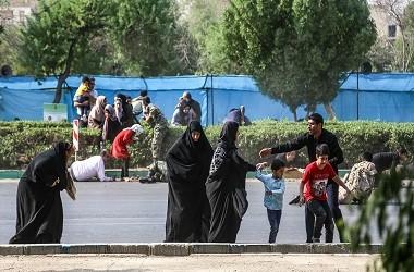 Situasi saat terjadinya serangan di parade militer Iran di kota
