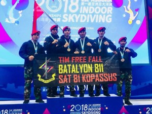 Indonesia Juara 3 <i>Asiania Indoor Skydiving Championship</i> 2018
