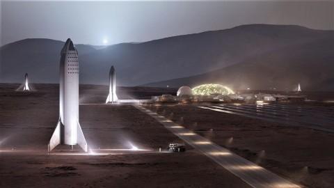 Begini Desain Markas Buatan SpaceX di Mars