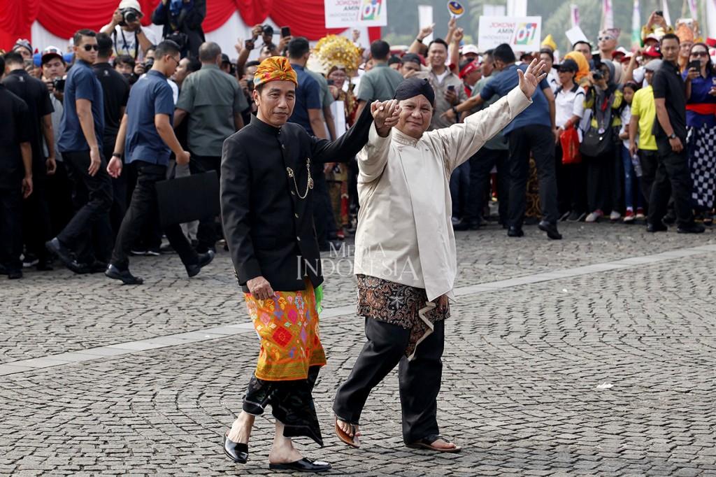 Momen Menarik Deklarasi Kampanye Damai di Monas
