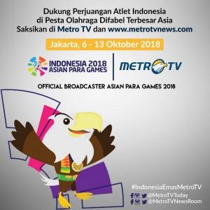 Metro TV Resmi Ditunjuk sebagai <i>Media Partner</i> Asian Para Games 2018