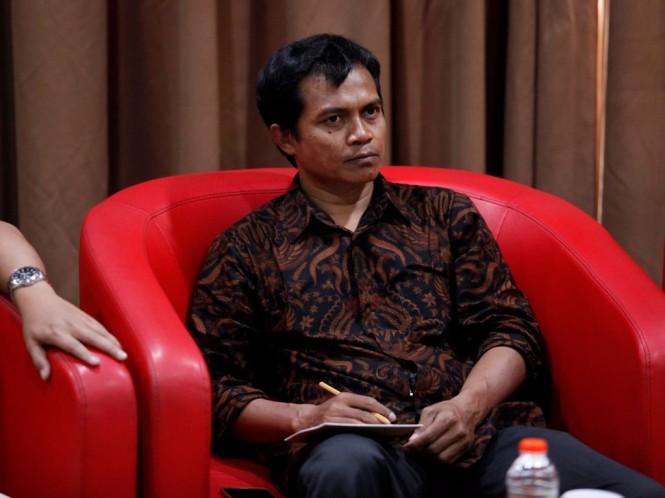 Peneliti Indonesia Budget Center (IBC) Roy Salam. Foto: MI/Rommy Pujianto.