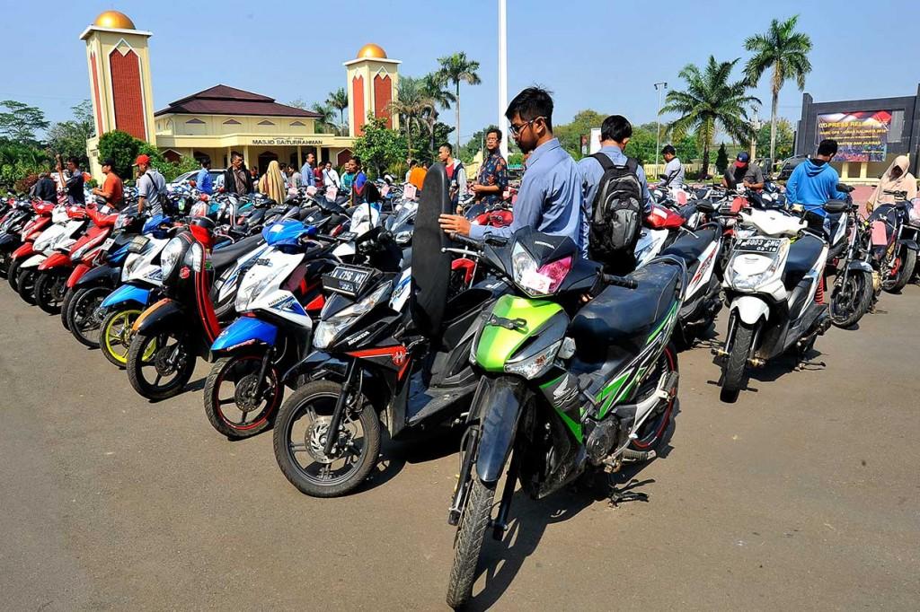 Ratusan Kendaraan Hasil Curian Dikembalikan ke Pemiliknya