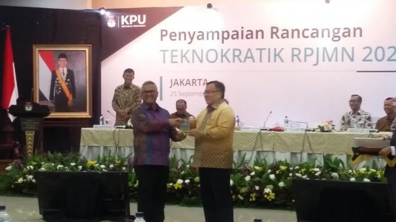 Penyampaian rancangan teknokratik RPJMN 2020-2025 antara KPU dan Bappenas - Medcom.id/Faisal Abdalla.