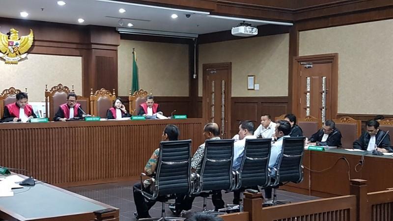 Suasana sidang Irvanto Hendra Pambudi dan Made Oka Masagung dalam perkara korupsi KTP-el - Medcom.id/Damar Iradat.