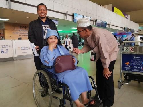 Halimah Sudin akhirnya bisa pulang ke Tanah Air. (Foto: Dok.