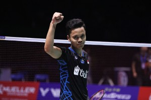Anthony Ginting Singkirkan Wakil Prancis