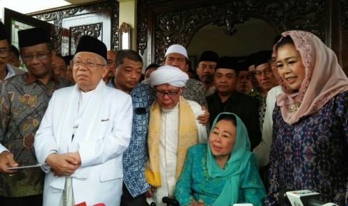 Ma'ruf Amin mengunjungi kediaman Gus Dur. Foto: Medcom.id/Arga