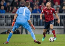 Kekesalan Robben usai Bermain Imbang Kontra Augsburg