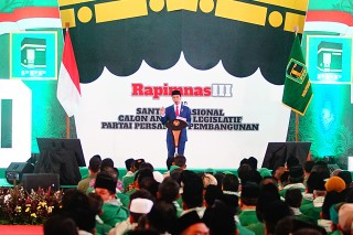 Jokowi Hadiri Rapimnas PPP