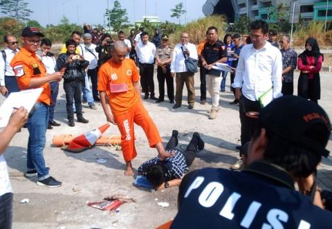 Pihak Kepolisian kota Bandung tengah melakukan olah tkp terkait