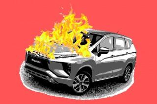 Mitsubishi Xpander Baru, Hangus Dilalap Api
