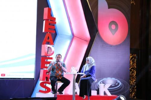 Direktur Utama Biofarma Rahman Roestan di acara Leaders Talk
