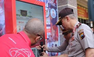 Satlantas Polres Cilacap Meluncurkan Mesin Portable T-SIM
