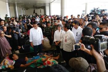 Menko PMK Dampingi Jokowi Kunjungi Korban Bencana Sulteng