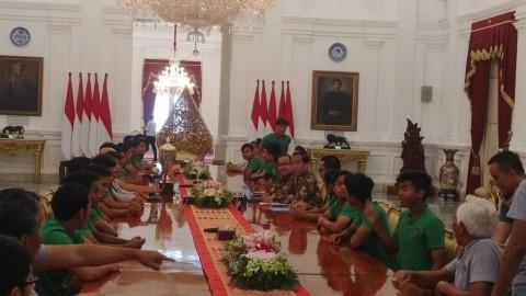Presiden Jokowi Bertemu Timnas U-16