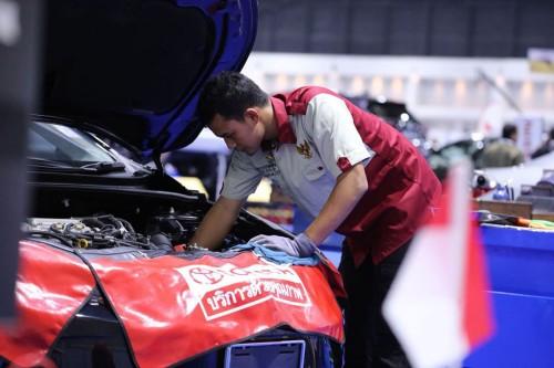 Aksi Mustaqim di Ajang Asean Skill Competition XII 2018. Nissan