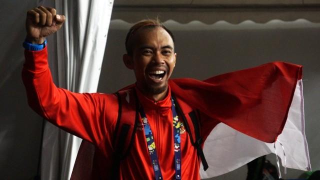 Hartanto Settiyo Budi, atlet Indonesia di Asian Para Games 2018 di cabor nomor lompat jauh putra T45/46/47-Medcom.id/Kautsar