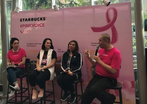 Acara  konferensi pers Memperingati Kanker Payudara oleh