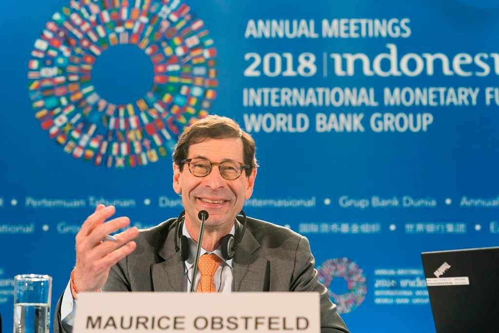 Economic Counsellor and Director of the Research Department IMF Maurice Obstfeld -- Foto: AFP