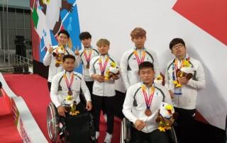 Pertama Kali, Korea Bersatu Naik Podium Bersama di Asian Para Games