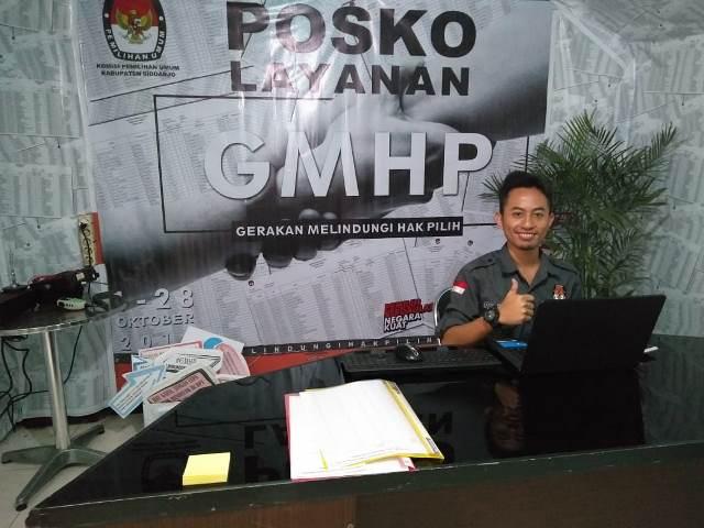Komisi Pemilihan Umum (KPU) Sidoarjo membuka posko layanan Gerakan Melindungi Hak Pilih (GMHP) jelang Pemilu 2019. Medcom.id/ Syaikhul Hadi.