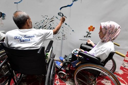 Lukisan Mural Penyandang Disabilitas Hiasi Balai Kota
